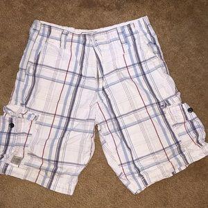 Men's Levi Signature plaid cargo shorts sz 30